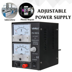 15v 1a 110v Precision Variable Regulator Dc Power Supply Test Adjustable Lab Us