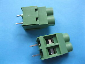 200 Pcs Green 2 Pin 6 35mm Screw Terminal Block Connector Wire Cage Type Dc635