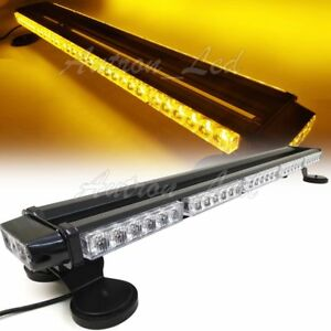 32 66w Led Traffic Adviser Warn Emergency Beacon Signal Amber Strobe Light Bar