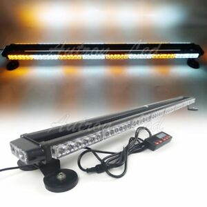 49 102w Led Warn Emergency Beacon Tow Truck Signal Strobe Light Bar Amber White