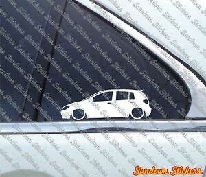 2x Lowered Car Outline Stickers For Hyundai Getz 5 door 2005 2011 Tb