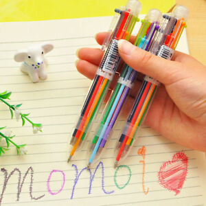 New Design 6 In 1 Color Ballpoint Pen Multi color Ball Point Pens School Supply