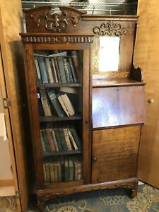 Secretary Bookcase Antique Desk