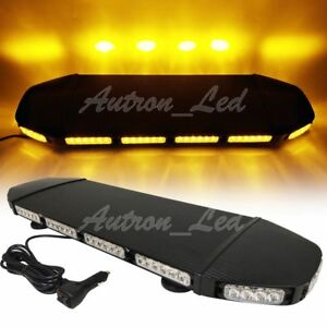 28 Led Warn Security Signal Emergency Beacon Roof Hazard Strobe Light Bar Amber