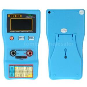 Digital Capacitor Esr Meter Capacitance Tester W Smd Test Clips Auto Range C3s8