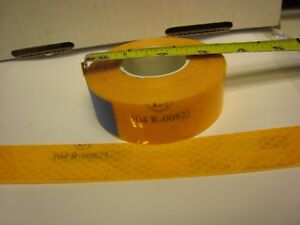 Ece 104r 00821 Amber Yellow Reflective Conspicuity Tape 1 X 25 Ft