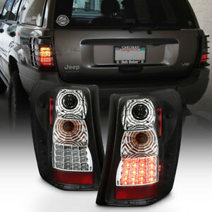 1999 2004 Jeep Grand Cherokee Black Led Tail Lights Lamps Left right
