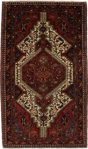 Wonderful Unique Handmade Tribal Hamedan Persian Rug Oriental Area Carpet 5x8