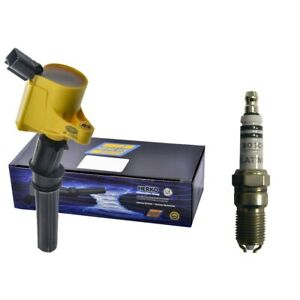 New Herko Ignition Coil 1 1 Bosch Spark Plug For 2001 03 Ford F150