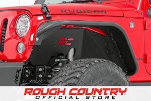 Rough Country Front Steel Inner Fenders Liners 07 18 Jeep Wrangler Jk