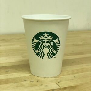 Starbucks White Disposable Hot Paper Cup 8 Oz 200 Pack Tea Coffee Eco Friendly