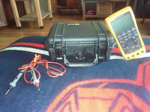 Practically New Fluke789 Processmeter W Hard Case And 1000 V Wire Hook ups