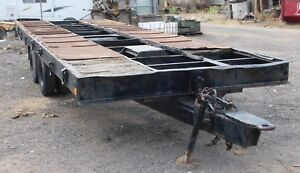 Low Boy Equipment Trailer Tilt Deck 20 Ton 8x24 New Wheel Bearings And Brakes
