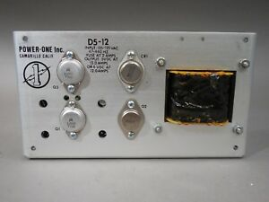 Power one D5 12 Power Supply 5 6vdc 12 0a New