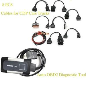 Bluetooth Tcs Cdp Pro Plus For Autocom Obd2 Diagnostic Car Truck Tool 8pc Cables