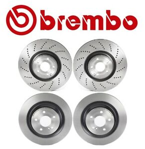For Mercedes W218 Cls550 2012 2017 Front Rear Disc Brake Rotors Kit Brembo