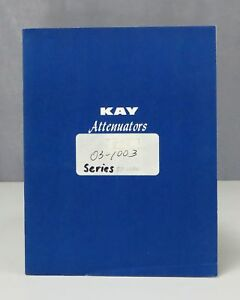 Kay Electric Attenuators In line Rotary Coaxial Instruction Manual Issue F 0958