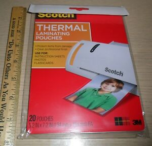 20 Count Bag Of Scotch Brand Laminating Pouches 5 x7