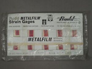 Budd Metafilm Strain Gauges red Stainless Steels C6 1x1 m20d r13x