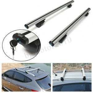 48 120cm Aluminum Universal Top Roof Rack Cross Bar Baggage Carrier For Car Suv
