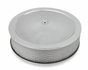 Holley 120 4145 4150 Drop Base Air Cleaner Chrome W 4 Paper Filter