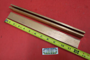 3 Pieces 1 4 x 1 1 4 C110 Copper Bar 12 Long Solid Flat Bus Bar Stock H02