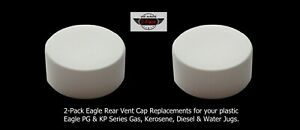 2 pk Eagle Rear Vent Screw Caps New Lid Gas Can Part For Pg1 Pg3 Pg5 Pg6 Kp3 Kp5