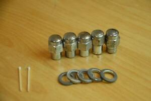 Vintage Cragar S s Set Of 5 Lugs And Washers Chevy Chevrolet