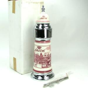 Nos Vintage Amstel Ceramic Porcelain Single 1 Tap Faucet Keg Draft Beer Tower
