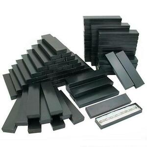 100 Black Stripe Cotton Filled Jewelry Gift Boxes 8