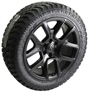 4 Dodge Ram 1500 Truck 22 Black Wheels Rims All Terrain Tires Factory Oe 2019
