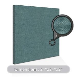 2 pack Adw Acoustic Panels 24 X 24 X 2 Squares Quick Easy Diy Install