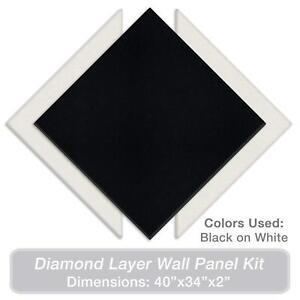 Adw Acoustic Panels 40 X 34 X 2 Diamond Layer Kit Quick Easy Diy Install