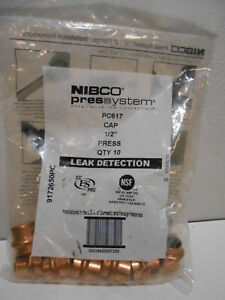 Lot Bag Of 10 Nibco 1 2 Press Press Cap Pc617