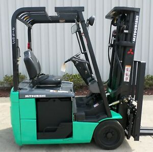 Mitsubishi Model Fb16nt 2012 3000 Lbs Capacity Great 3 Wheel Electric Forklift
