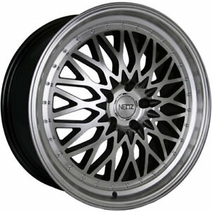 20x8 5 Machined Black Neoz 5017 Wheels 5x4 5 35 Fits Pontiac Vibe 5 Lug Only