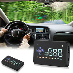 Universal Gps Speedometer Hud Head Up Display Car Overspeed Tired Warning Alarm