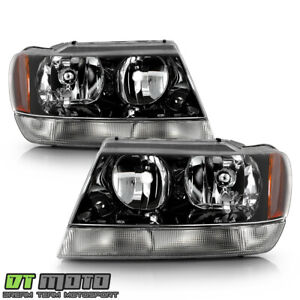 1999 2004 Jeep Grand Cherokee Replacement Headlights Headlamps Left Right 99 04