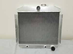 1955 1956 1957 Chevy With 6 Cylinder Core Support Aluminum Radiator Chevrolet