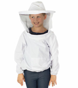 Vivo Beekeeping Youth Sized Bee Keeping Suit Jacket Pull Over Smock With Veil