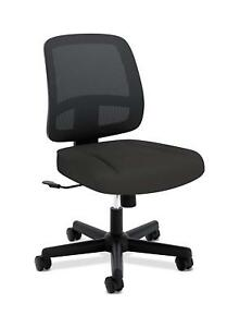 Hon Valutask Task Chair Mesh Back Computer Chair For Office Desk Black Hvl205