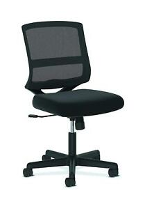 Hon Valutask Mid back Mesh Task Chair Armless Black Mesh Computer Chair Hvl206