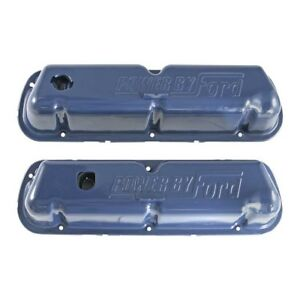 Scott Drake Powered By Ford Blue Valve Covers 1968 1973 302 351w Mustang
