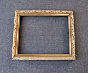 Vintage Decorated Wooden Brownish Accents Creamy Picture Frame 6588c 1