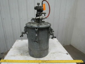 Delvibiss Qm5094 1 10 Gallon Galvanized Steel Pressure Pot Tank W agitator