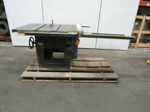 Delta Rockwell 34 350 12 14 Tilting Arbor Saw Table Saw 5hp 230 460v 3ph