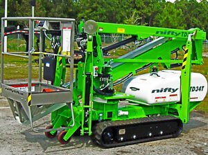 Nifty Td34t 40 Track Boom Lift only 43 Wide order Now For Fall Delivery