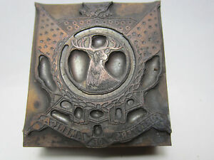 Antique Etched Printer Lead Block Foresters Of America Pb 23