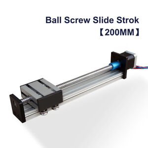 Ball Screw Linear Rail Slide Stage 200mm Table With 42 Stepper Motor Damper Cnc