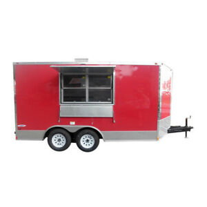 Concession Trailer 8 5 x14 Red Event Food Catering Vending